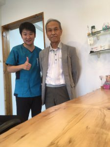田浦先生が見学に来られました!